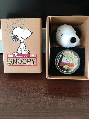 Peanuts 60th Anniversary  2010 British Virgin Islands $ 1 Coin Snoopy