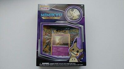 POKEMON - Mimiku Pin Box 3 Booster Packs, Foil & Pin -POPBXMIN Trading Card Game