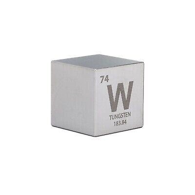 "1.5"" Tungsten Cube with Periodic Engraving"