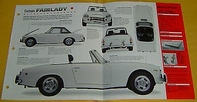 1968 Datsun Fairlady 2000 Convertible 1982cc 4 Cylinder IMP Info/Spec/photo 15x9
