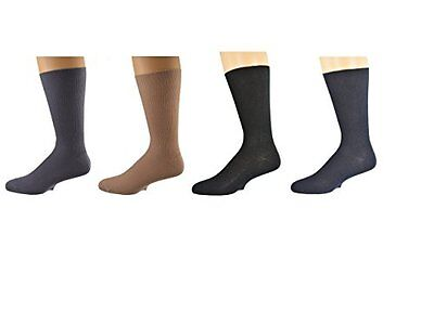 Sierra Socks Diabetic Cotton True Rib Men Crew Smooth Toe Socks M11 2334