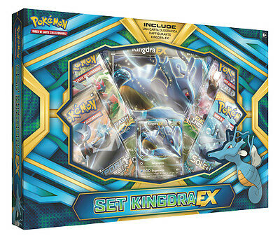 Box Pokemon SET KINGDRA EX con Carta Kingdra Ex + Carta Gigante + 4 Buste ITA