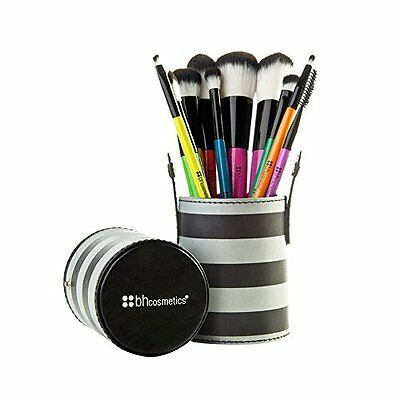 BH Makeup Brush Set 10 Piece with Travel Case Container Holder Cosmetics Tool