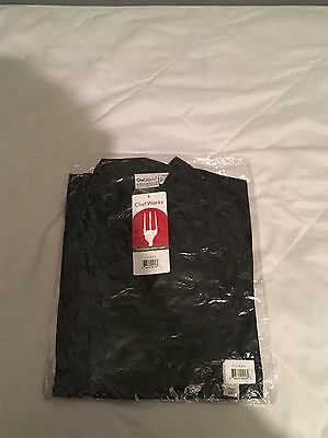 NWT Chef Works Black Coat 3/4 Sleeves Unisex Size Small