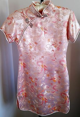 Girls Chinese Dress with Dragon Phoenix Design - Size Medium