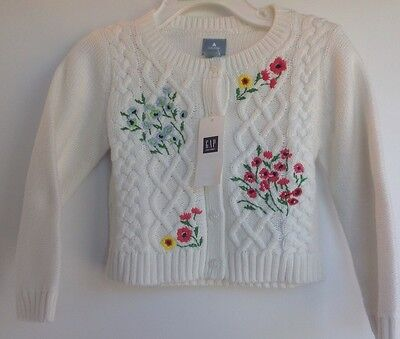 NWT Baby Gap Girl Cardigan Floral Sweater 18-24M NEW