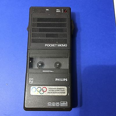 Vintage Phillips Pocket Memo 285 Microcassette Recorder