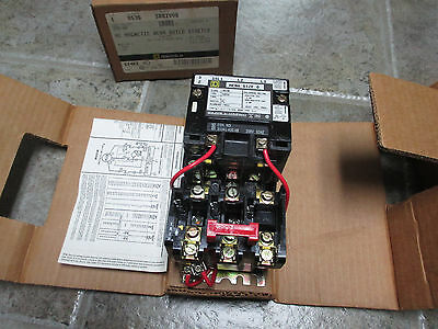 SQUARE D SBO2V08  AC Magnetic Motor Starter NEMA RATED 3 Phase Pole Series A NOS