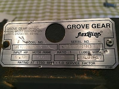 Grove Gear Bmq-213-3 Right Angle Worm Gear Reducer Ratio 5:1
