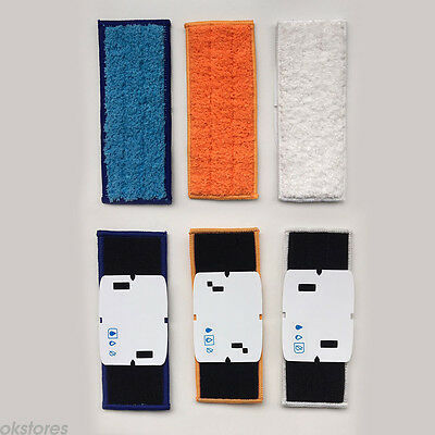 3 Washable Reusable Wet / Dry / Damp Mopping Pads For iRobot Braava 240 WL6