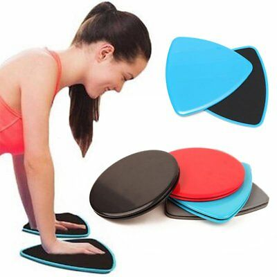 1 Pair Fitness Gliders Slide Discs Core Sliders Workout Gym Exercise Training