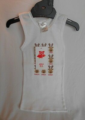 Baby Berry Jingle B&L Cute Christmas Reindeer Singlet - Size 0000 New Baby - New