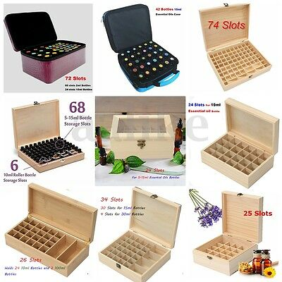 16 Types Aromatherapy Essential Oil Bottle Wooden Box Storage Case Container Bag