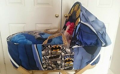 Batman Moses Basket Cover Set