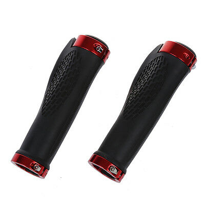 Pair Cycling MTB Bike Bicycle Handlebar Rubber Grips Comfortable Red WD