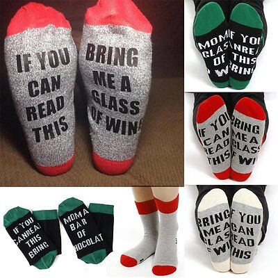 If You Can Read This Bring Me A Glass Of Wine Women Men Socks Novelty LOT WY