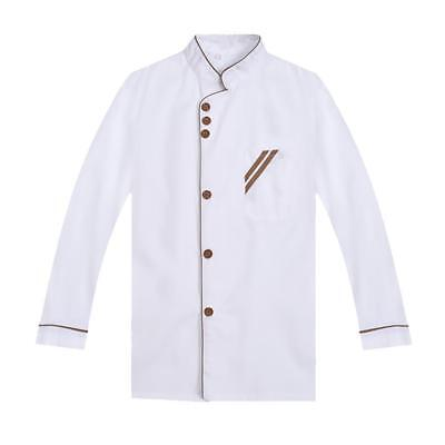 Hotel Chef Suit Long Sleeves Chef Jacket Kitchen Cook Uniform Coat XXXXL