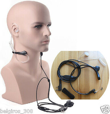 New High Quality Acoustic Air Tube Vibration Throat Microphone Earphone Baofeng