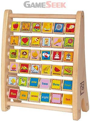 Hape Alphabet Abacus Brand New Free Delivery