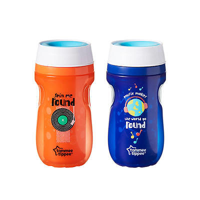 Tommee Tippee 2 Pack 8 Ounce 360 Degree Insulated Cup - Blue and Orange