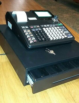 Casio Electronic Cash Register Pcr-T2300 W/manual-2Sets Of Keys-12 Rolls Thermal