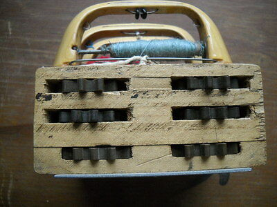 Antique Wooden Loom Shuttle Complete Triple Slide with Gear Box -