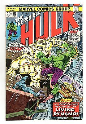 Incredible Hulk Vol 1 No 183 Jan 1975 (VFN) Marvel, Bronze Age (1970 - 1979)