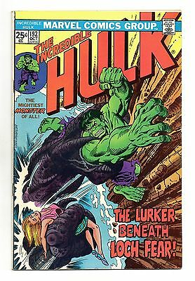 Incredible Hulk Vol 1 No 192 Oct 1975 (VFN) Marvel, Bronze Age (1970 - 1979)