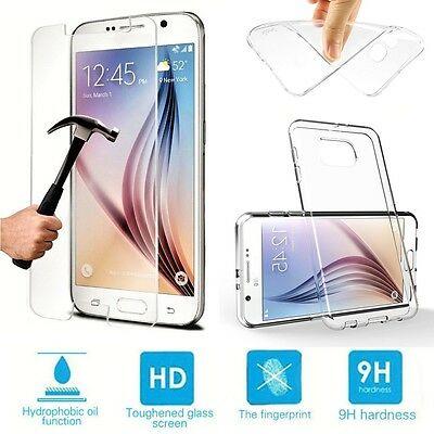 Clear Case / Tempered Glass Screen Protector For Samsung Galaxy Grand Prime G530