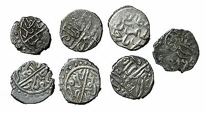 LOT of 7 RARE SILVER ISLAMIC ACTCE COINS/MUSA ,BAIAZID/  5.30g/10-12mm  R  R-420