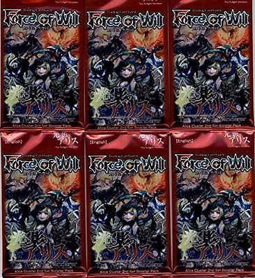 6 Six Packs of Force of Will TCG Sealed Booster Packs A2: The Twilight Wandere