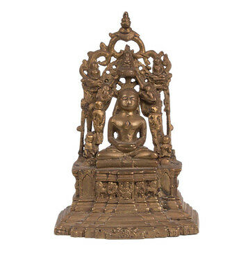 Indien 20. Jh. Schrein - A Western Indian Jain Tirthankara Bronze Shrine Inde