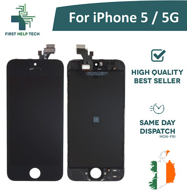 For iPhone 5 5G LCD Display Touch Screen Digitizer Glass Assembly Unit Black New