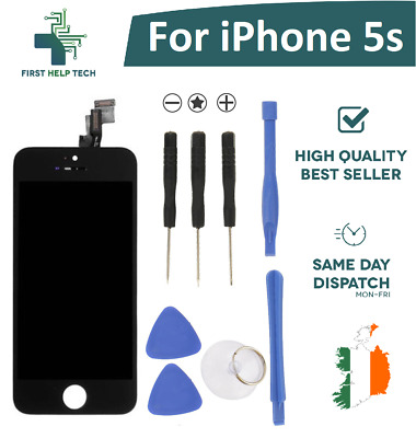 For iPhone 5s LCD Display Touch Screen Digitizer Glass Unit Black With Tools New