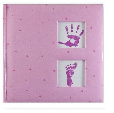 "Slip In Photo Album Holds 200 6"" x 4"" Photos Memo Area Gift Baby Girl Keepsake"