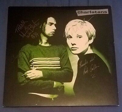 The Charlatans LP Up To Our Hips 1994 original signed BBQLP147 EX RARE!!!