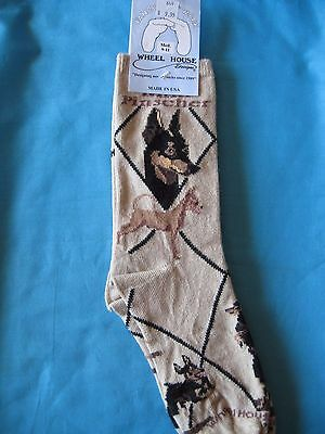 Miniature Pinscher Socks Tan Size Medium by Wheelhouse Design NWT