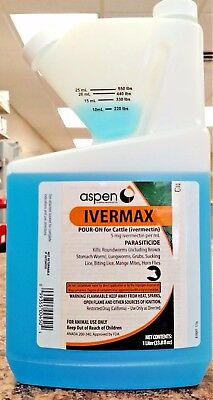 Ivermax Ivermectin Pour On 1L (1000ml) Lice Worms Cows Calves Cattle Wormer