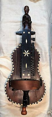 Antique Mid 18th Century French HURDY-GURDY String Instrument Pierre Louvet