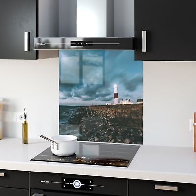 Kitchen Splashback Tempered Glass Heat Resistant Lighthouse UK p53934 60x65cm