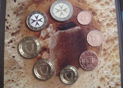 Malta Euro Coin Set 2016 New Official Folder All Coins 1cent To 2€ BUNC KMS