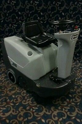 Clean Advance Terra ride on battery floor sweeper with low hours & FREE shipping