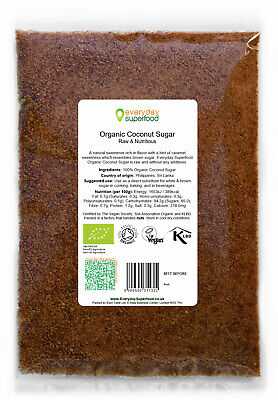 Coconut Sugar Premium ORGANIC Raw Coconut Palm Sugar by Everyday Superfood