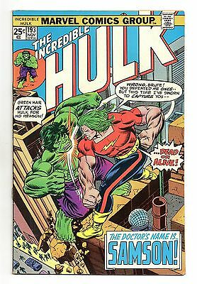 Incredible Hulk Vol 1 No 193 Nov 1975 (VFN+) Marvel, Bronze Age (1970 - 1979)