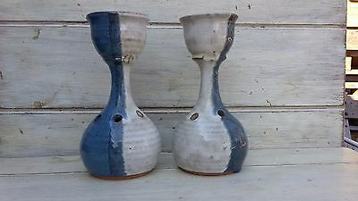 Pair of Charles Lisk North Carolina Catawba Valley Pottery NC