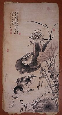 Unique Old China Landscape Paper Hand Painting Collection Mark ZhangRuoAi PP854