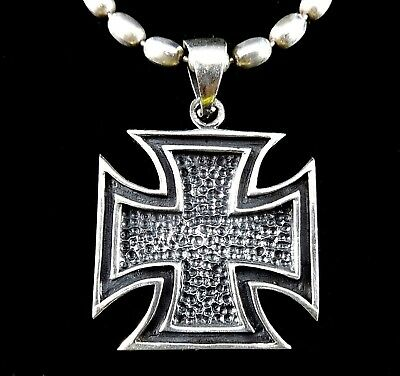 Handcrafted Solid 925 Sterling Silver MALTESE Knight's Templar Iron Cross