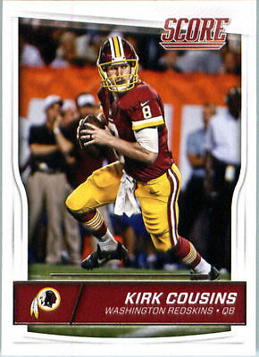 60 count lot of 2016 Score Football Kirk Cousins Washington Redskins