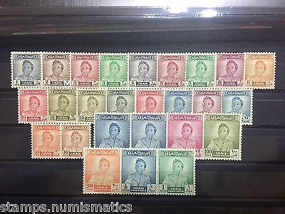 Iraq 1948, K. Faisal II Definitive Postage Stamps Complete Set (26 v.) Fresh MNH