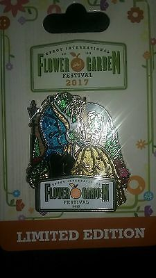 NEW Disney 2017 Epcot Flower and Garden Festival  Beauty and the Beast LE Pin